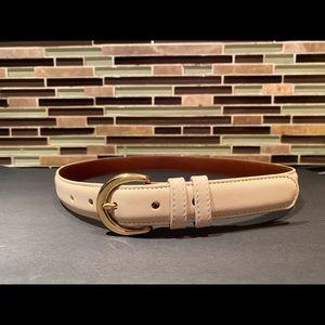 Coach Milky White Leather Belt Size Medium